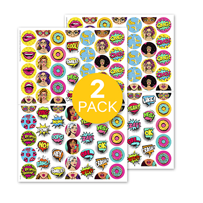 PopArt (Rounds) 2-pack