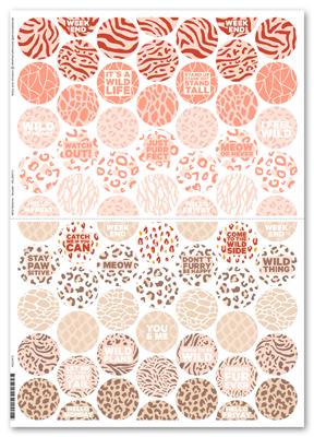 Sticker Wild Patterns Rounds - Mehrfarbig