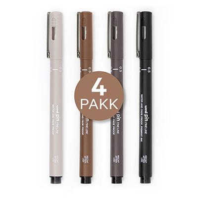 Uni Pin Fine line, 4 pakk