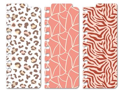 Snap In-Trenner Wild Patterns 3er Set - Rosa/Rot