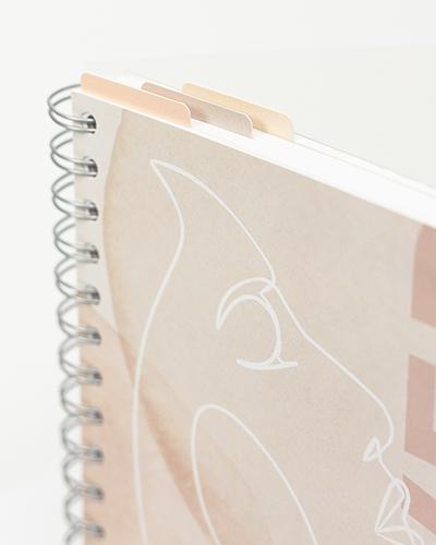 Snap in-bokemerker Dusty Blush 3-pakk - Rosa/Beige